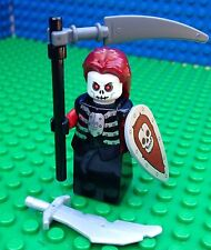 Lego Castle SKELETON WITCH Queen Knights Shield Scythe Sword Armour Minifig Lady