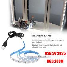 USB 5V 2835 12SMD 20CM RGB LED Strip Light Bar TV Back Lighting Kit