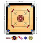 Carrom Board Game with Coins Striker and Boric Powder, 26 x 26 inch