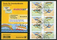 Bund 5 x 2848 - 2849 Folienblatt FB 13 gestempelt ETST Bonn BRD Selbstklebende