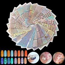 24pcs/ lot DIY hueco sello pegatinas estampilla Arte de uñas Decoración Manicura