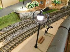 10 schwarze LED Ringlampen Bahnsteiglampen, ca. 65 mm hoch (aus Metall)