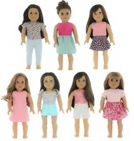 "Fits 18"" American Girl Doll Clothes, My Generation Doll & More - 7 Outfits"