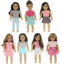 """Fits 18"""" American Girl Doll Clothes, My Generation Doll & More - 7 Outfits"""
