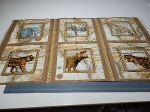 Out of Africa Panel 23x42 Tina Higgins Quilting Treasures Animals BOLT END #2