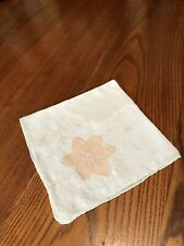 Antique Vintage Linen Hankie Madeira Style Hand Stitched Wedding