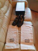 Gucci Mens Shoes Black Leather Horsebit Loafers UK 7    US 8    EU  41   Vintage