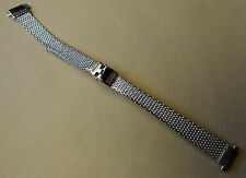 Mesh Old Stock NOS Vintage Ladies Stainless Steel 10-12mm Reg to Long Watch Band