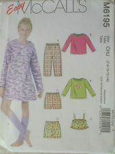 UNCUT SEWING PATTERN MCCALL'S 6195 SIZE 7 8 10 12 14 TOP LEG WARMERS SHORTS GOWN
