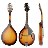 27'' A-Style Elegant Mandolin Sunset Wood with 8 Strings Folk Musical Instrument