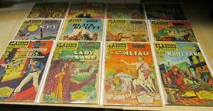 Classics Illustrated Comics, 12 books, see variations.
