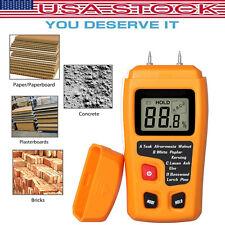 Digital Moisture Meter Humidity Tester Wood Firewood Paper Damp LCD Detector US
