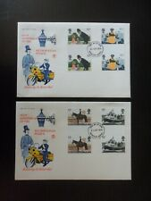 STUART FDC - ANNIVERSARY OF THE METROPOLITAN POLICE - 1979 (GUTTER PAIRS) RARE.