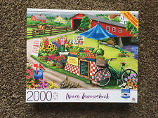 MB Puzzle Nancy Wernersbach 2000 Piece Jigsaw Puzzle - Festival Day - New Sealed