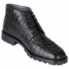 Men's Los Altos Genuine Caiman Hornback Dress Ankle Boot Lace Up Lug Rubber Sole