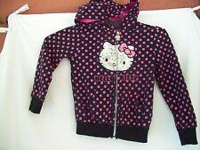 Sequin Hello Kitty Purple Poker dot Zip Up Hoodie Comfortable Jacket Youth Size