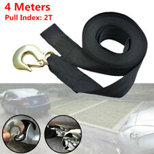 "1PCS Car Heavy Duty Tow Winch Strap 2"" Rope Hook Boat Trailer Polyester Webbing"