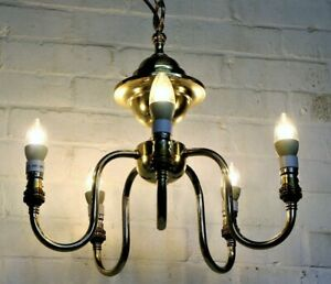 Ceiling Light Vintage Christopher Wray Brass Chandelier Edwardian Antique Style