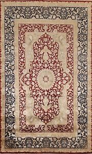 Vegetable Dye Floral Traditional Oriental Area Rug Wool Hand-knotted 6x8 Carpet