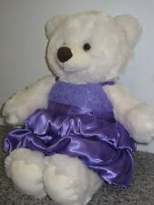 "DRESSED BUILD A BEAR 15"" LARGE TEDDY BEAR PLUSH SOFT CUDDLY TOY IN DRESS & PANTS"