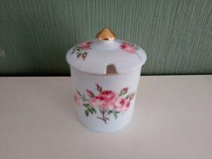 "Rare Shelley ""Pink Rose"" Jam/Conserve Pot & Lid"