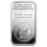 10 Ounce oz .999 Silver Bar - APMEX