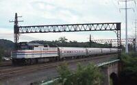 AMTRAK Railroad Locomotive 382 NEW HAVEN CT Original 1993 Photo Slide