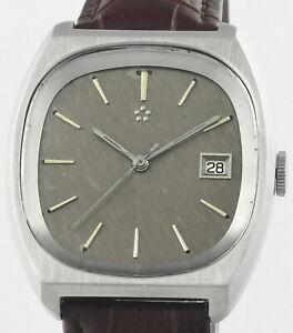 Vintage ETERNA MATIC Date Cal 12824  Stainless Steel Mens Wrist Watch
