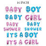 """16"""" Pink/Blue Letter Foil Balloons 'BABY SHOWER' 'ITS A GILR' 'ITS A BOY' Banner"""