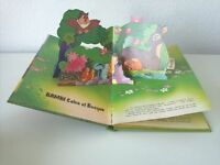 198? Libro Animado Pop-Up, Walt Disney, Bambi Salva el Bosque, Editorial Norma