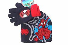 Marvel Spider-Man & Friends Boy's Stretchy Hat And Gloves 2 Piece Set NWT