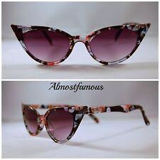 Trapunta Vintage 50s/60s STILE LINEA DONNA Cat Eye occhiali da sole Occhiali Retrò Rockabilly UK #5