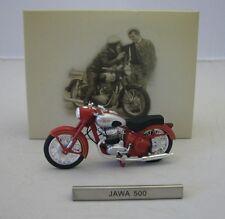 Model Motorcycle 1/24 Czech motorcycle Jawa 500 silver red. CZ Motorbike. Atlas