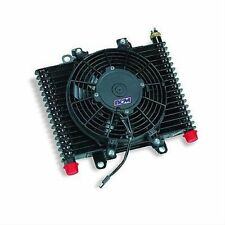 B & M 70297 Transmission Oil Cooler Large Hi Tek Cooling System w/ Fan 590 CFM