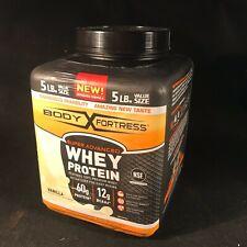 Body Fortress Super Advanced Vanilla Whey Protein 5 lbs (46 serv) NEW Exp 7/21