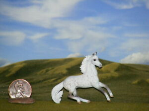 OOAK Breyer cm Custom Horse Mini Whinnies  x D. Williams  Flea Bitten Gray, WoW!