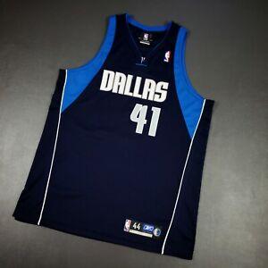 100% Authentic Dirk Nowitzki Reebok Mavericks Jersey Size 44 L XL Mens