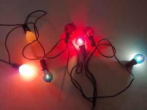 ANTIQUE EDISON ERA EXHAUST TIP CARBON FILAMENT CHRISTMAS LIGHT BULBS +