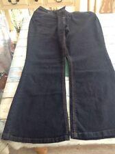 Indigo, Dark wash Bootcut Plus Size High Jeans for Women