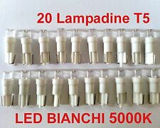 20 Lampadine LED T5 per ANGEL EYES 5000K Bianchi Fari DEPO FK GOLF 4 IV 3 III 2
