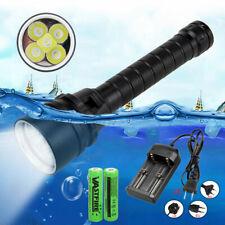 Diving 12000Lm 4x XML L2 LED SolarStorm Taschenlampen Tauchlampe bis 100m 26650