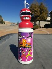 NEW vtg 1994 Mighty Morphin Power Rangers Plastic Handle Sipper Cup Water Bottle