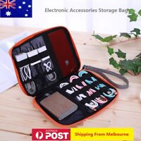 Universal Electronic Accessories Storage USB Cable Organizer Bag Case wth handle