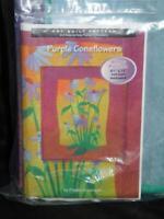Nancys Notions Purple Coneflowers Art Wall Quilt Kit NEW Flowers Pattern Fabric