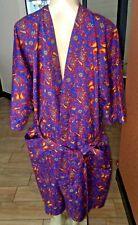 Vintage Jordan Marsh Unisex Smoking Robe-Paisley OneSz trk