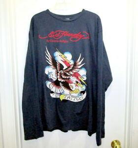 NWT Ed Hardy Christian Audigier Long Sleeve Shirt Eagle Tattoo Size XXL