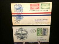 "1930'S (2) US Stamps Air Mail  USED ""2-STAMPS CANCELLED-FDC-VG/F-FREE SHIPPING"