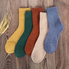 5 Pairs Womens Winter Warm Thermal Lambs Wool Merino Heavy Duty Boot Wool Socks