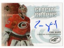 05-06 UPPER DECK ICE GLACIAL GRAPHS AUTOGRAPH AUTO CAM WARD HURRICANES *44863