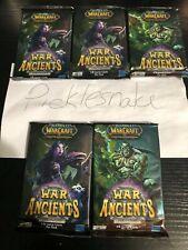 World of Warcraft Tcg War of the Ancients 5 pack lot! Feldrake loot? Bonus Loot!